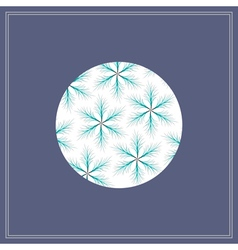 Postcard with fir star pattern in circle vector