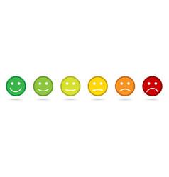 rating emoji icons set of emoticons set flat vector image