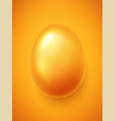 realistic easter egg decorated in gold color vector image