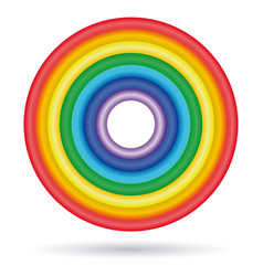 Rings painted in colors of the rainbow vector