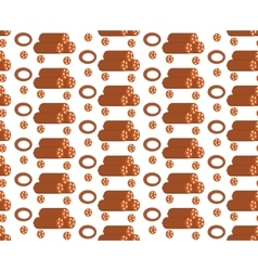 Salami seamless pattern flat style Sausage vector image