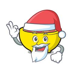 Santa soup union mascot cartoon vector