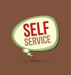 Self service text in balloons vector