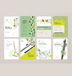 Set of brochure and annual report design tempaltes vector