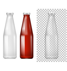 tall bottle design with red liquid vector image