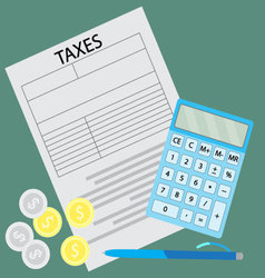 Tax form Counting taxes vector
