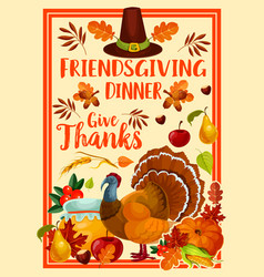 thanksgiving holiday friendsgiving potluck turkey vector image