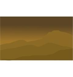 The desert landscape vector
