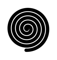 Thick black spiral symbol simple flat vector