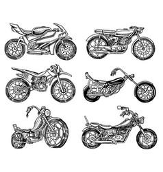 vintage motorcycle retro bicycle extreme biker vector image