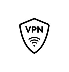 virtual server vpn network line icon wifi private vector image