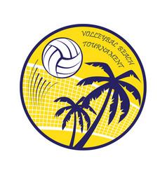 Volleyball beach tournament vector
