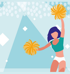 woman cheerleader isolated icon vector image