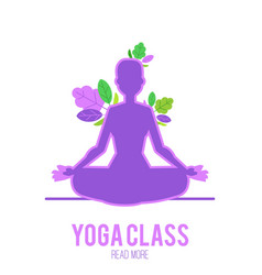 yoga of luminous ultra violet vector image