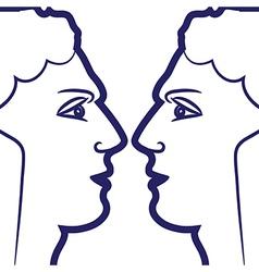 zodiac sign gemini logo vector image