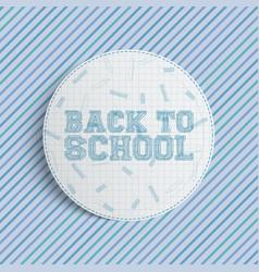 Back to school circle banner vector