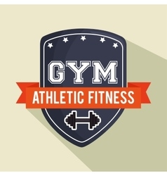 emblem gym athletic fitness shield vector image
