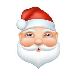 Santa claus cheerful face vector image