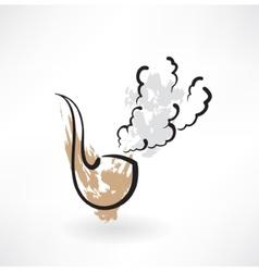 tobacco pipe grunge icon vector image vector image