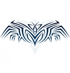wings in tattoo style vector image