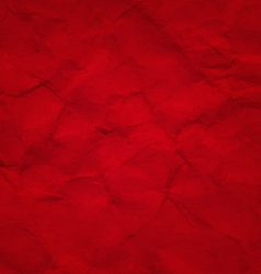 Red Crushed Paper vector image vector image