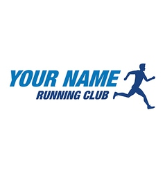 running club vector image vector image