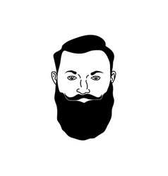 the person s face vector image