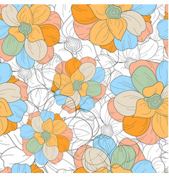 floral seamless repeat pattern detailed vector image vector image