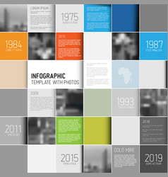 mosaic infographic template with photos vector image