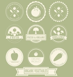 Vegetable Organic Label vector image vector image