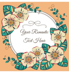Vintage card with floral elements vector image