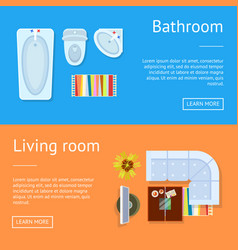 bathroom and living room web vector image vector image