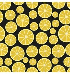 colorful sliced lemon fruits seamless pattern vector image vector image