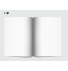Magazine blank page template for design layout vector image vector image