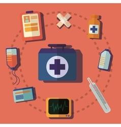 medical help icon vector image
