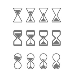 Sandglass icons vector image vector image