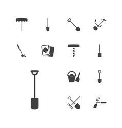 13 spade icons vector