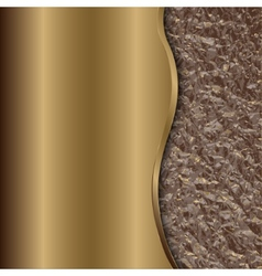 abstract bronze background with curve and foil vector image