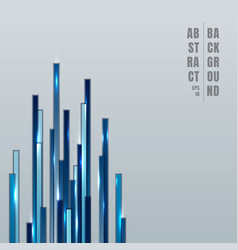 Abstract technology concept blue vertical lines vector