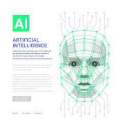 ai artificial intelligence concept human face vector image