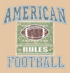 American FOOTBALL Rule vector