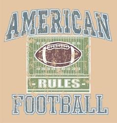 American football rule vector