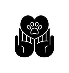 Animal friendly black glyph icon vector