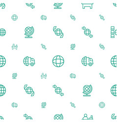 around icons pattern seamless white background vector image