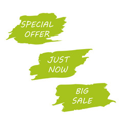 big sale green background design for headline vector image