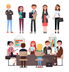 business meeting collection vector image