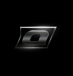 Carbon speed letter q logo dark matte metal vector