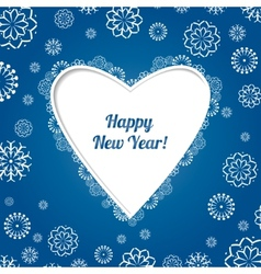 Christmas blue card with snowflakes vector image