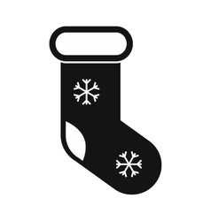 Christmas sock simple icon vector image