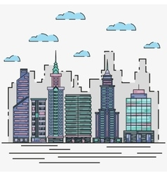 City architecture skyline in vector image